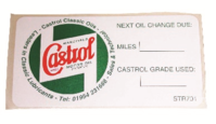CASTROL CLASSIC A-POST SERVICE STICKER       83MM/45MM
